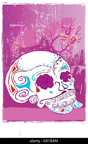 Le Jour des Morts crâne Banque D'Images