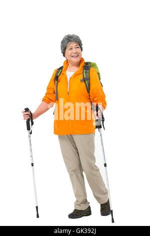 Tours d'escalade âgés heureux Banque D'Images