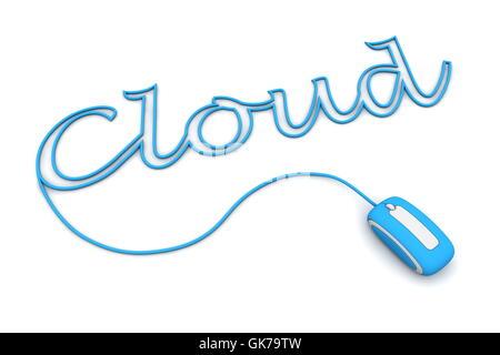 mot de nuage bleu Banque D'Images