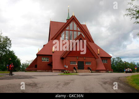 Impressionen: Kirche, Kiruna, Laponie, Schweden.
