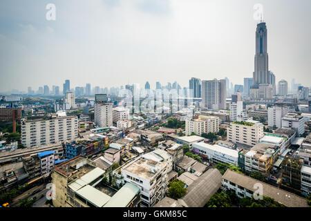 Compte tenu de la brumeuse Ratchathewi District, à Bangkok, Thaïlande. Banque D'Images