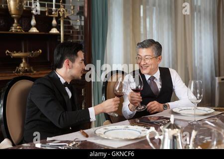 Les gens d'affaires le dîner Banque D'Images