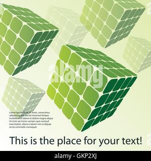 Trois côtés 3D Puzzle Cube Boxes Banque D'Images