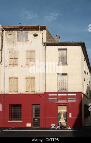 Au village d'espira de l'Agly en Languedoc Roussillion,Pyrénées Orientales,Midi pyrénées,sud de la France,près de Banque D'Images