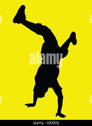 Danseuse à l'envers Banque D'Images