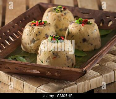 Rava upma. South Indian snack et petit déjeuner plat. L'alimentation de l'Inde Banque D'Images