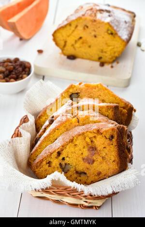 Tranches de pain de potiron aux noix et raisins