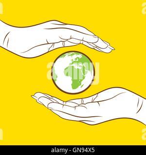 Sauver la Terre et passer au vert concept design Banque D'Images