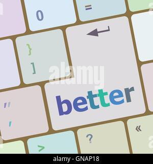 Meilleur mot sur ordinateur pc touche clavier vector illustration Banque D'Images