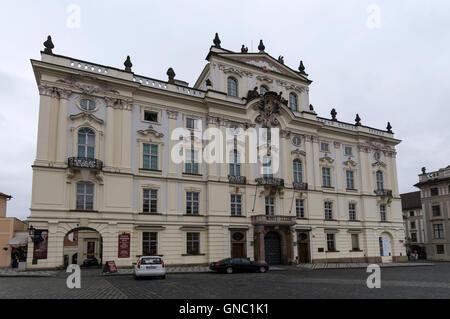 Archbishoph's Palace de Hradčanské nám, Prague en République Tchèque Banque D'Images