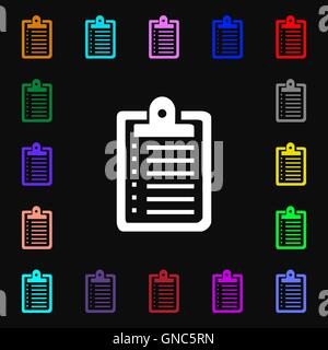 L'icône ordinateur portable signe. Beaucoup de symboles colorés pour votre conception. Vector Banque D'Images