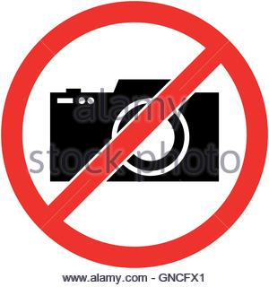 Aucune photographie, photo interdite symbole. Vecteur. Banque D'Images