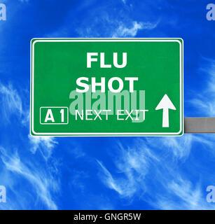 Inscrivez-vous sur la vaccination contre le ciel bleu clair Banque D'Images