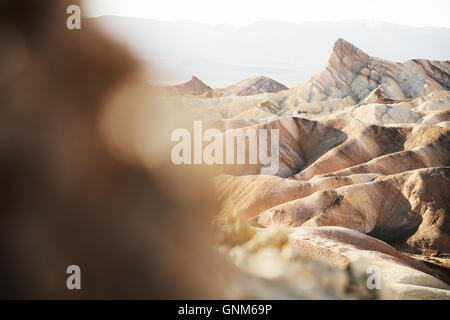 Dans Zabriskie Point Death Valley National Park Banque D'Images