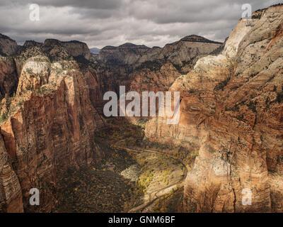 Les montagnes rouges de l'Utah dans Zion National Park