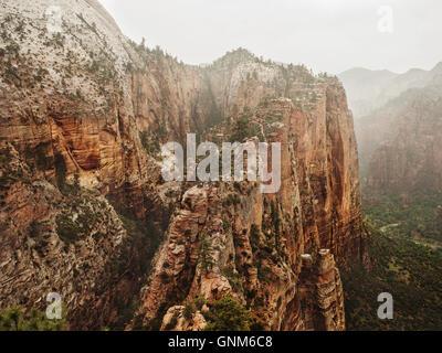 Une vue dans l'Utah Zion National Park Banque D'Images
