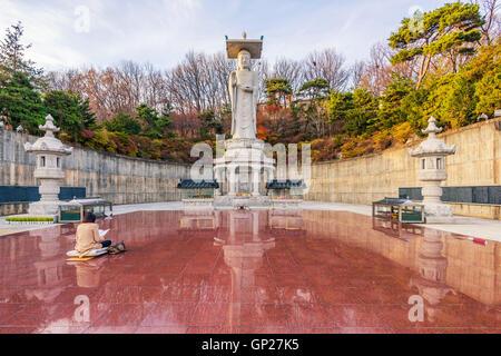 Temple de Bongeunsa centre-ville dans la ville de Séoul, Corée du Sud. Banque D'Images