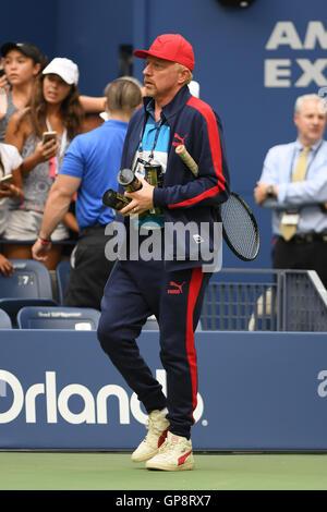 Flushing Meadows, New York, USA. 2 Septembre, 2016. Boris Becker vu à Arthur Ashe Stadium de l'USTA Billie Jean Banque D'Images
