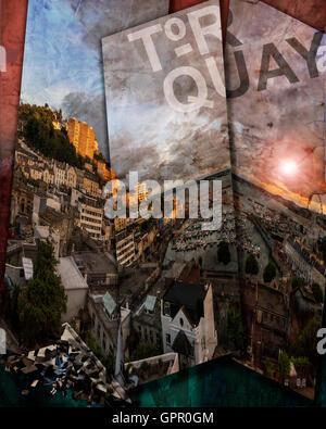 L'ART NUMÉRIQUE: Torquay - Devon, Grande Bretagne Banque D'Images