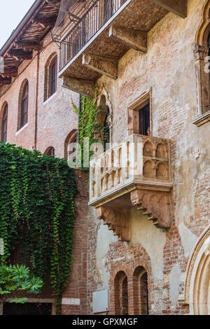 Patio et balcon de Roméo et Juliette, Vérone, Italie Banque D'Images
