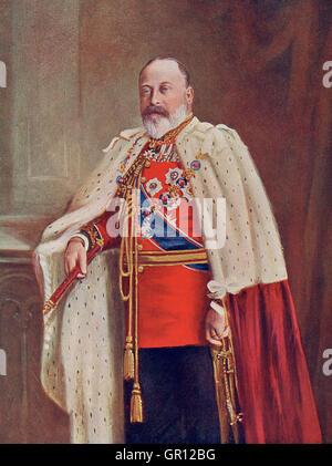 Édouard VII, 1841 - 1910. Roi du Royaume-Uni et les Dominions britanniques et empereur des Indes. Banque D'Images
