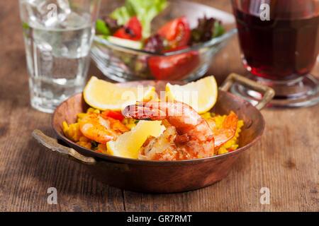 Paella espagnole Banque D'Images