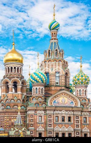 Eglise du Sauveur sur le Sang Versé, St Petersburg, Russia Banque D'Images