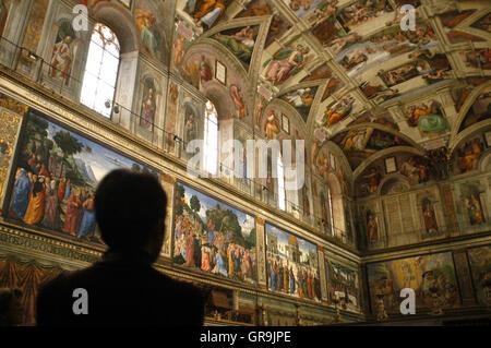 Peintures de michel ange plafond de la chapelle sixtine rome banque d 39 images photo stock - Michel ange chapelle sixtine plafond ...