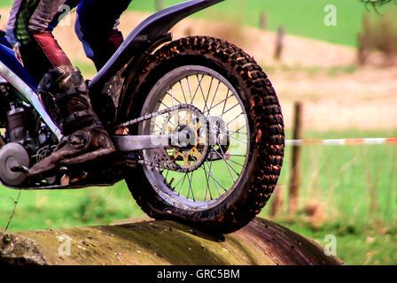 Obstacle Moto Banque D'Images