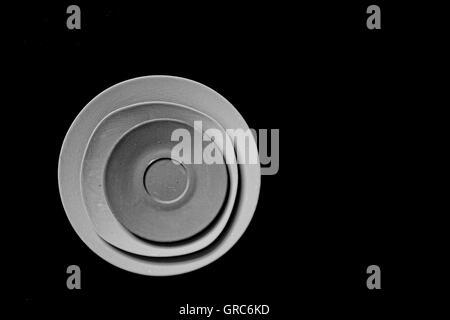 Batterie de cuisine vaisselle en porcelaine Couleur Taille Quantité Objet alimentaire Banque D'Images