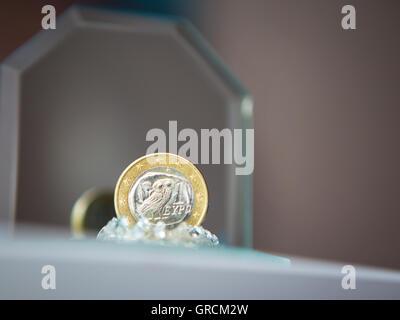 La Grèce, l'Euro Coin, Owl Banque D'Images