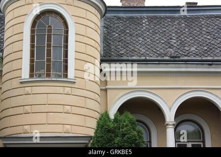 Maison sur Cernopolni près de la Villa Tugendhat, Brno, Autriche Banque D'Images