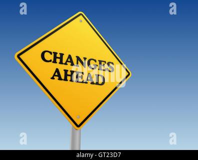 Changements à venir signer concept 3d illustration Banque D'Images