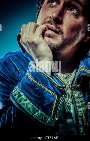 Prince bleu, gloire concept, funny fantasy photo Banque D'Images