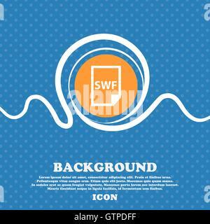 L'icône du fichier SWF signe. Résumé fond bleu et blanc avec espace pour texte et votre design. Vector Banque D'Images