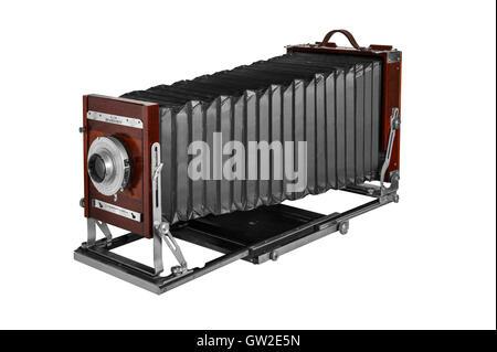 Meubles anciens Deardorff 8X10 pouces avec caméra Vue 10' objectif Kodak Ektar Commerciale Banque D'Images