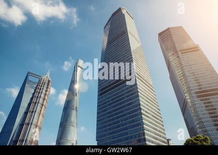 Gratte-ciel de Shanghai Shanghai Lujiazui financial district à Shanghai, Chine. Banque D'Images
