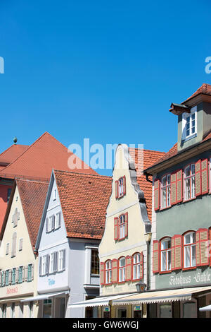 Beau village Dinkelsbuhl à la route romantique dans le sud de l'Allemagne Banque D'Images