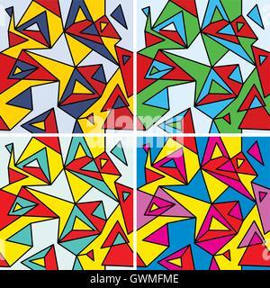 Des fragments de l'abstraction, le cubisme et pop-art (seamless pattern set) Banque D'Images