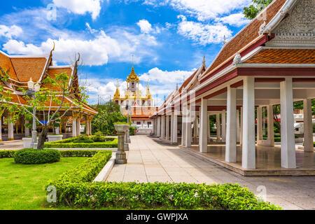 Wat Ratchanatdaram à Bangkok, Thaïlande. Banque D'Images