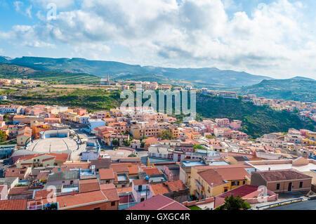 La vieille ville de Castelsardo - Sardaigne - Italie Banque D'Images