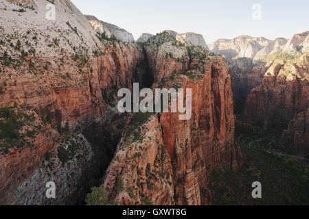 Angel's Landing, dans l'Utah Zion National Park Banque D'Images