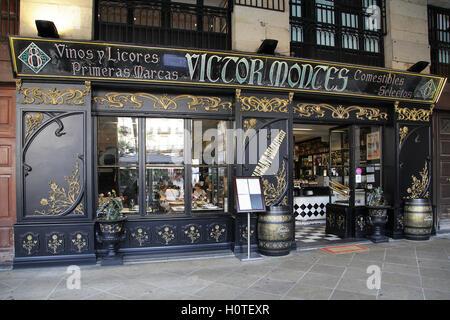 Restaurant Víctor Montes la Plaza Nueva de Bilbao Espagne Banque D'Images