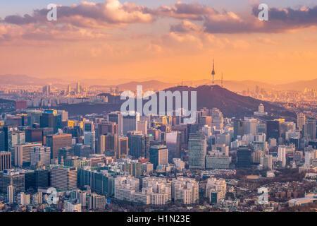 La ville de Séoul en Corée du Sud, Banque D'Images