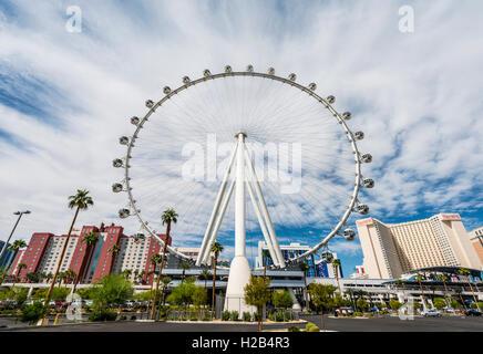 High Roller, grande roue, Las Vegas, Nevada, USA Banque D'Images