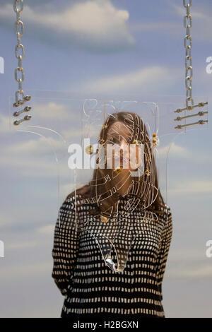Londres, Royaume-Uni. 26 septembre 2016. Artwork Guimard la ceinture de chasteté par Anthea Hamilton. La Tate Britain Banque D'Images