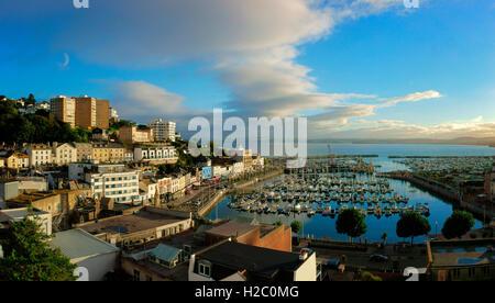 Go - DEVON: Panorama du port de Torquay Banque D'Images