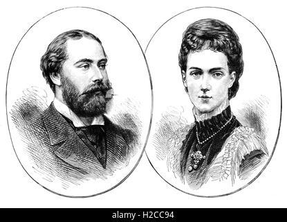 Le Prince de Galles (1841 - 1910), devenu Édouard VII, roi du Royaume-Uni et les Dominions britanniques et l'empereur Banque D'Images