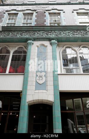 Façade Art nouveau de Bolton dans la construction d'Cullum Street, London, UK KATHY DEWITT Banque D'Images