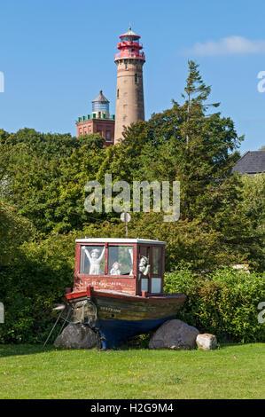 Phares à Kap Arkona (Cape) sur l'île de Rügen, Mecklembourg Poméranie occidentale, Allemagne. Banque D'Images